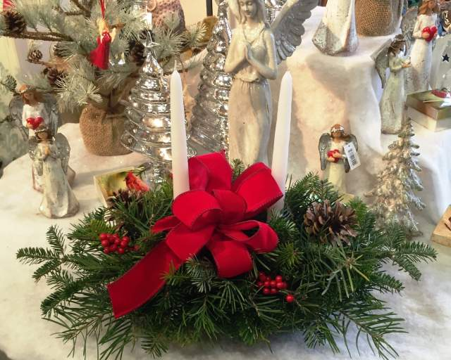 Large Christmas Evergreen Centerpiece